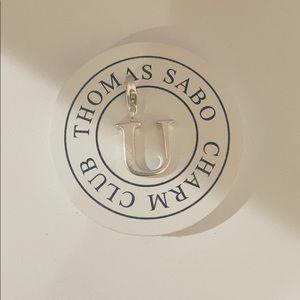 """Thomas Sabo letter """"U"""" charm"""